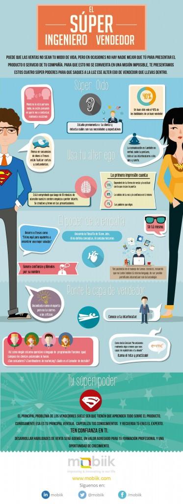 Técnicas para ser un gran vendedor  ( Infografía)