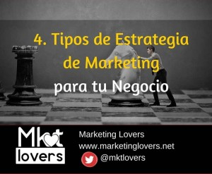 Tipos de estrategia de marketing para tu Negocio