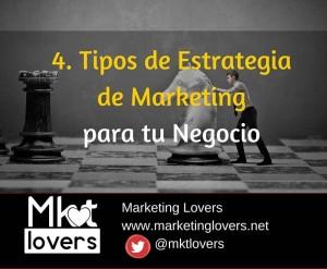Tipos de estrategia de marketing para tu Negocio