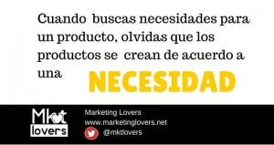 El marketing  crea necesidades