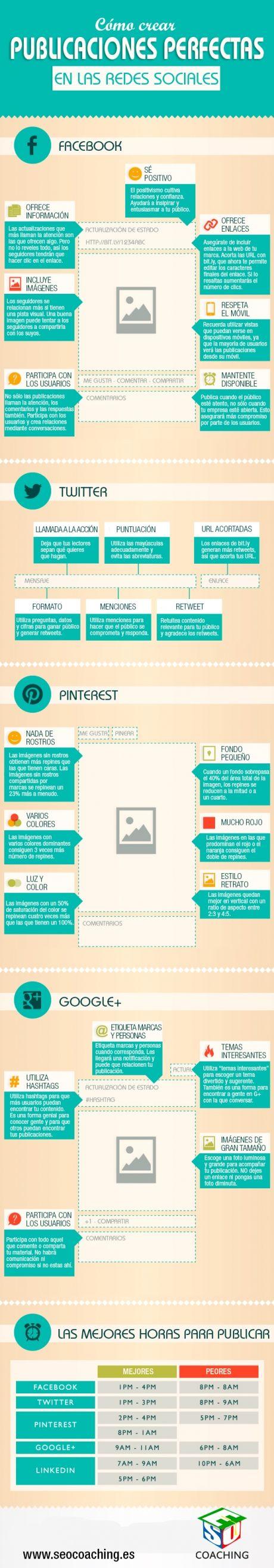 Cómo crear publicaciones perfectas en Redes Sociales